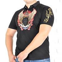 Мужская модная футболка поло, черного цвета.