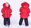 Зимний детский комбинезон для девочки с мехом, фото 8