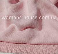 Трёхнитка без начеса (петля) хлопковая, Турция ширина 180 см. Нежно-розовый