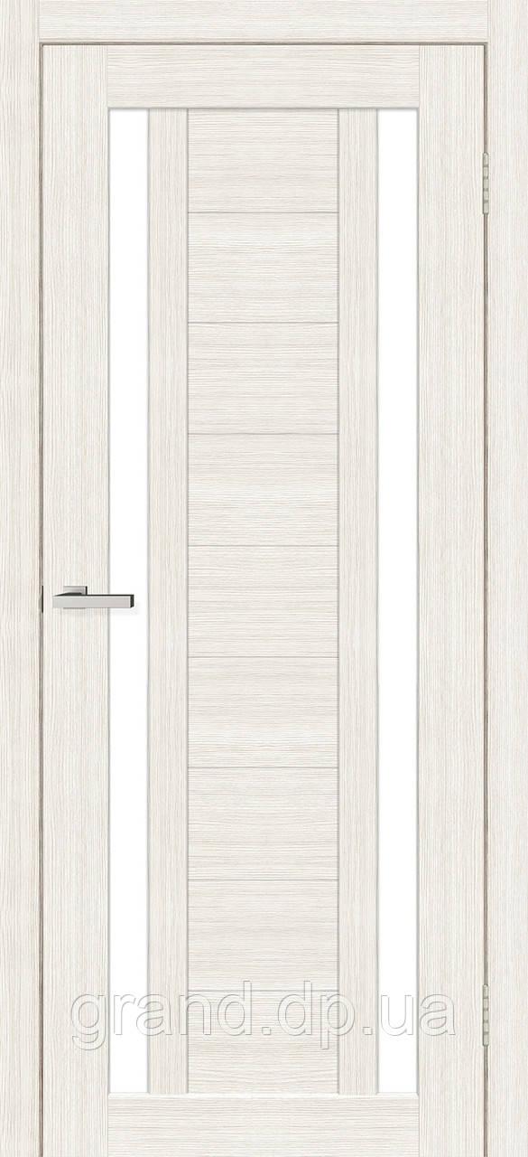 Двери межкомнатные Омис Deco 02 Cortex, цвет дуб bianco