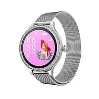 Женские смарт часы M8 тонометр давления крови калории сон спорт фитнес трекер пульсометр металлический браслет