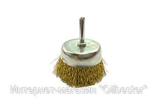 Щетка торцевая Housetools - 50 мм, рифленая стержень