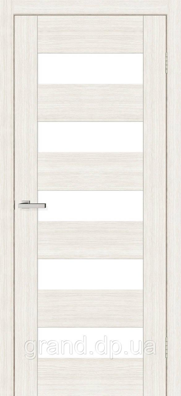 Двери межкомнатные Омис Deco 04 Cortex, цвет дуб bianco