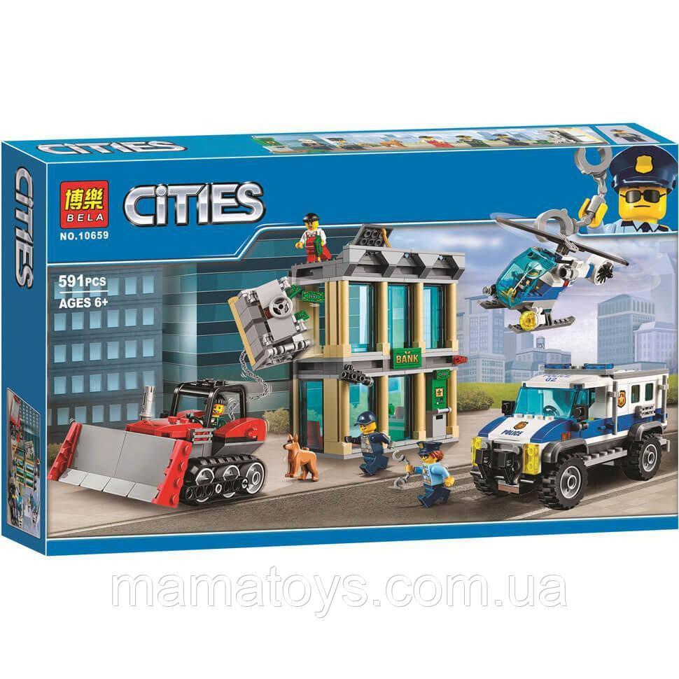 Конструктор 10659 Bela Cities Ограбление на бульдозере 591 деталь