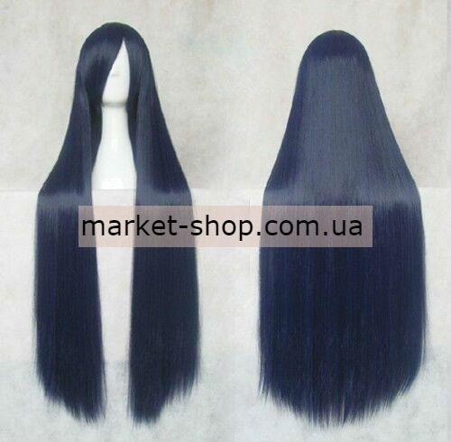 Парик синий 100см с челкой ( волосы искусственные) Купить парик недорого Украина!