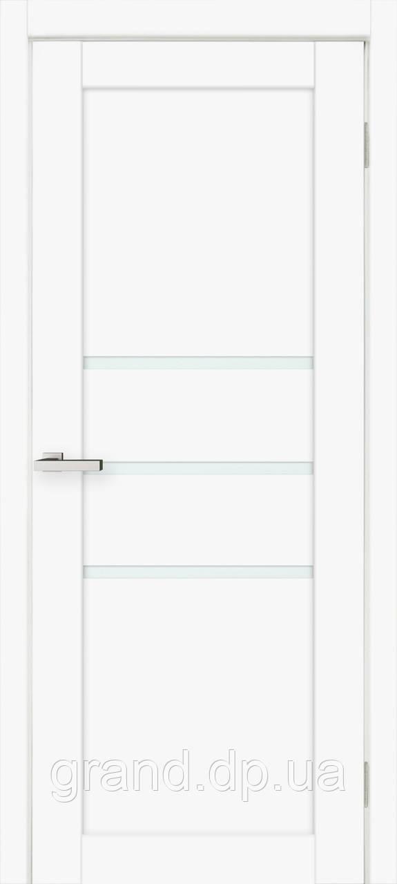 Двери межкомнатные Омис Deco 06 Cortex, цвет белый матовый