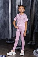 Детский повседневный костюм для девочки . Р.122-146. Новый.(BG-2247)
