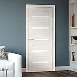 Двери межкомнатные Омис Deco 07 Cortex, цвет дуб bianco line, фото 2