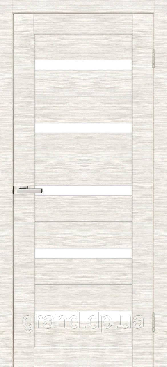 Двери межкомнатные Омис Deco 07 Cortex, цвет дуб bianco line