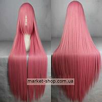 Парик розовый 100см с челкой ( волосы искусственные) Купить парик недорого Украина!