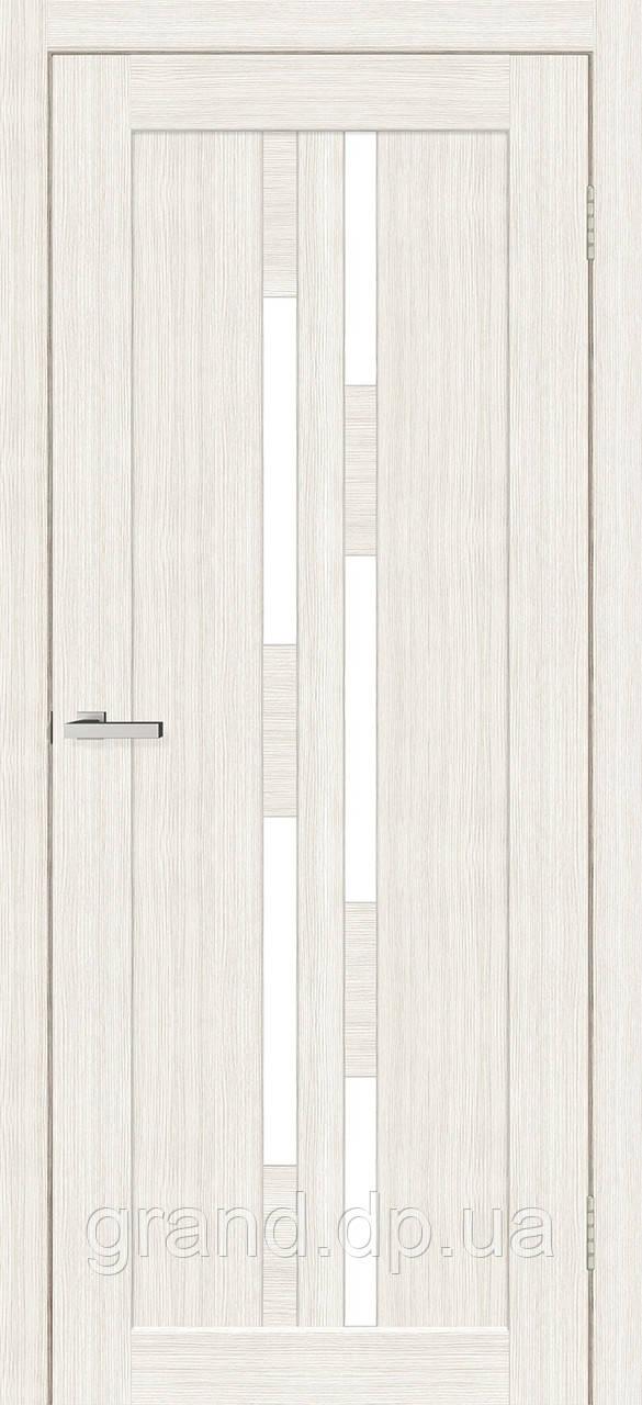 Двери межкомнатные Омис Deco 08 Cortex, цвет дуб bianco