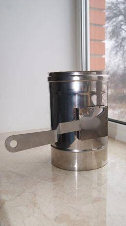 Дымоходный регулятор тяги из нержавеющей стали AISI 304 без теплоизоляции Версия-Люкс, фото 2