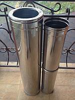 Дымоходная труба из нержавеющей стали (одностенная) AISI 304 Версия-Люкс