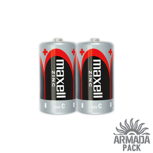Батарейки Maxell Zink Manganese сольові R14 (2 шт)