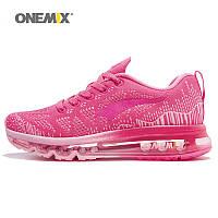 Кроссовки женские спортивные беговые дышащие ONEMIX 38-39 размер (розовые)