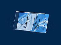Горизонтальный наклонный держатель еврофлаера из акрила прозрачного 1,8мм, фото 1