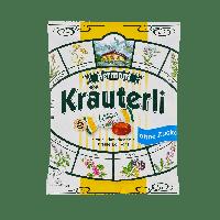 Леденцы (конфеты) БЕЗ САХАРА Bermont Kräuterli  с травами 125г Германия