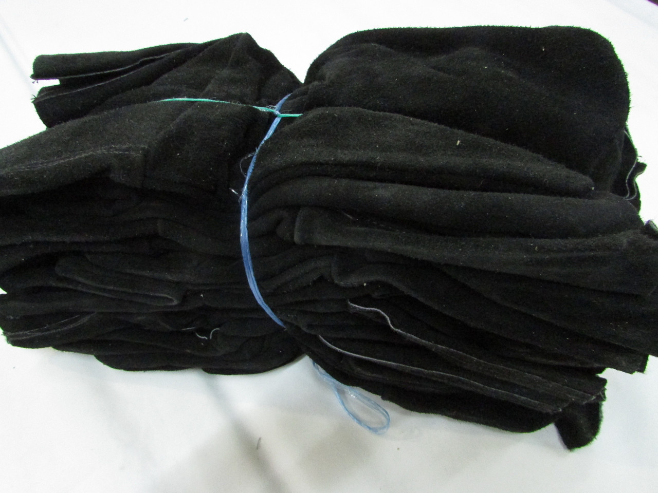 Рукавицы спилковые с крагами черные и серые