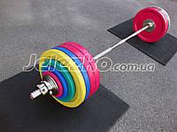 Диски блины Динамо обрезиненные олимпийские тяжелоатлетические, на грифы 50 мм, фото 1
