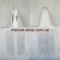 Парик светло-серый 100см с челкой ( волосы искусственные) Купить парик недорого Украина!