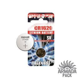 Батарейка Maxell  CR1620 3V литиевая (1 шт)