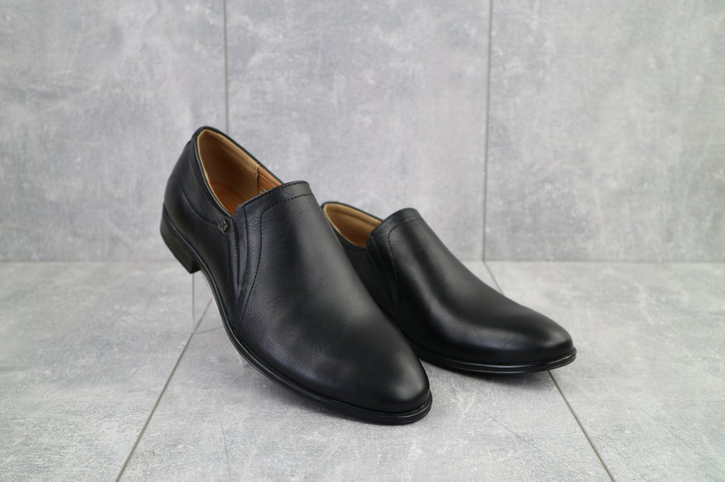 Туфли Stas 161-09-11 (весна/осень, мужские, натуральная кожа, черный)