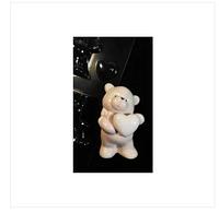 3D Форма пластиковая  Мишка с сердцем молд