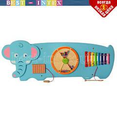 Деревянная игрушка Бизиборд MD 2015 слон