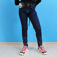 Джинсы для девочки со бусинами Seagull Wear размер 146, фото 1