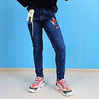 Джинсовые лосины с вышивкой для девочки Seagull Wear размер 14, лет