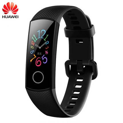 Фитнес-браслет Huawei Honor Band 5 с цветным 0,95 дюймовым AMOLED экраном (Черный), фото 2