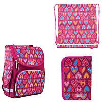 Набор рюкзак каркасный 555920, пенал 532049, сумка 556102 1 Вересня Smart для девочки