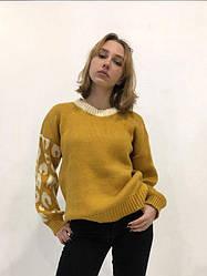 """Женский свитер без бренда """"Olive brown"""""""