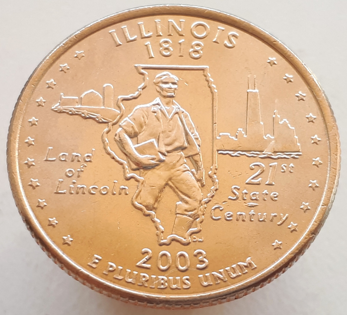 США 25 центов 2003 Иллинойс D