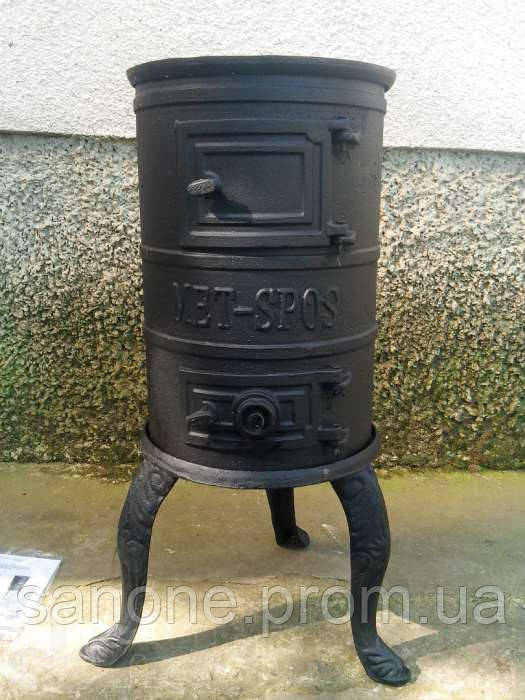 Чугунная печь KARLIK 4.5 kW на уголь