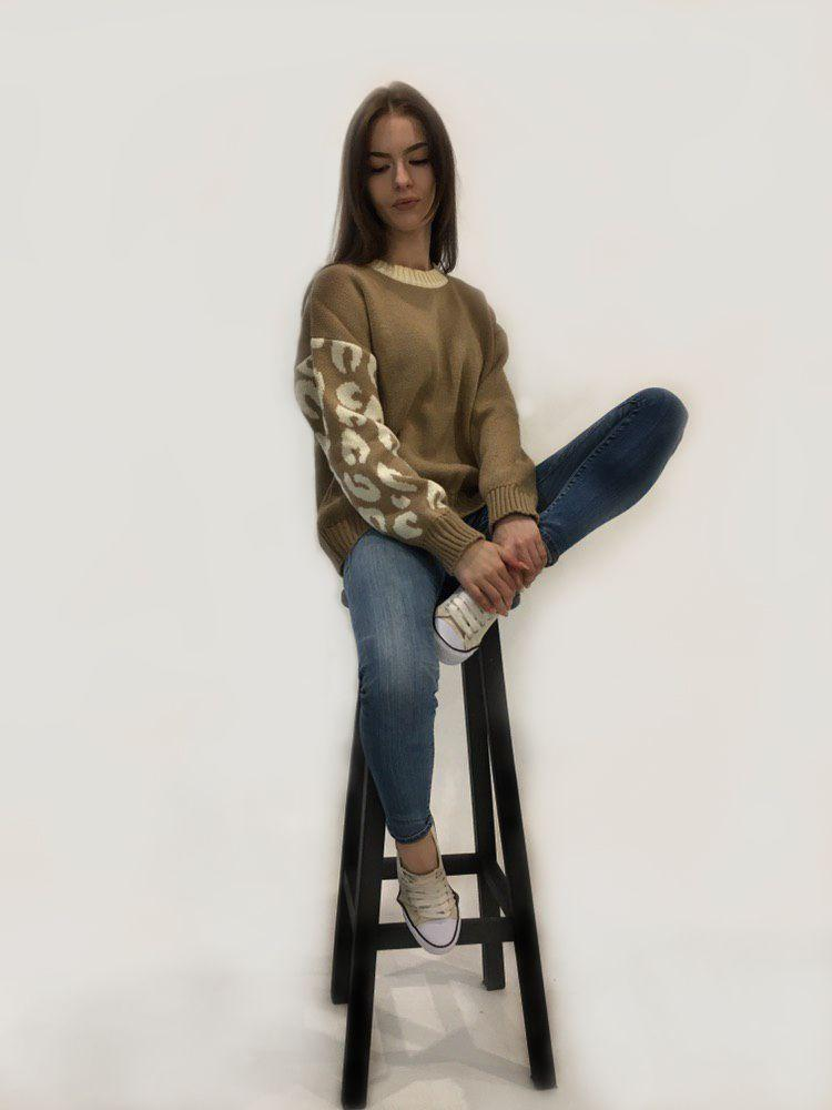 "Женский свитер без бренда ""Beige"""