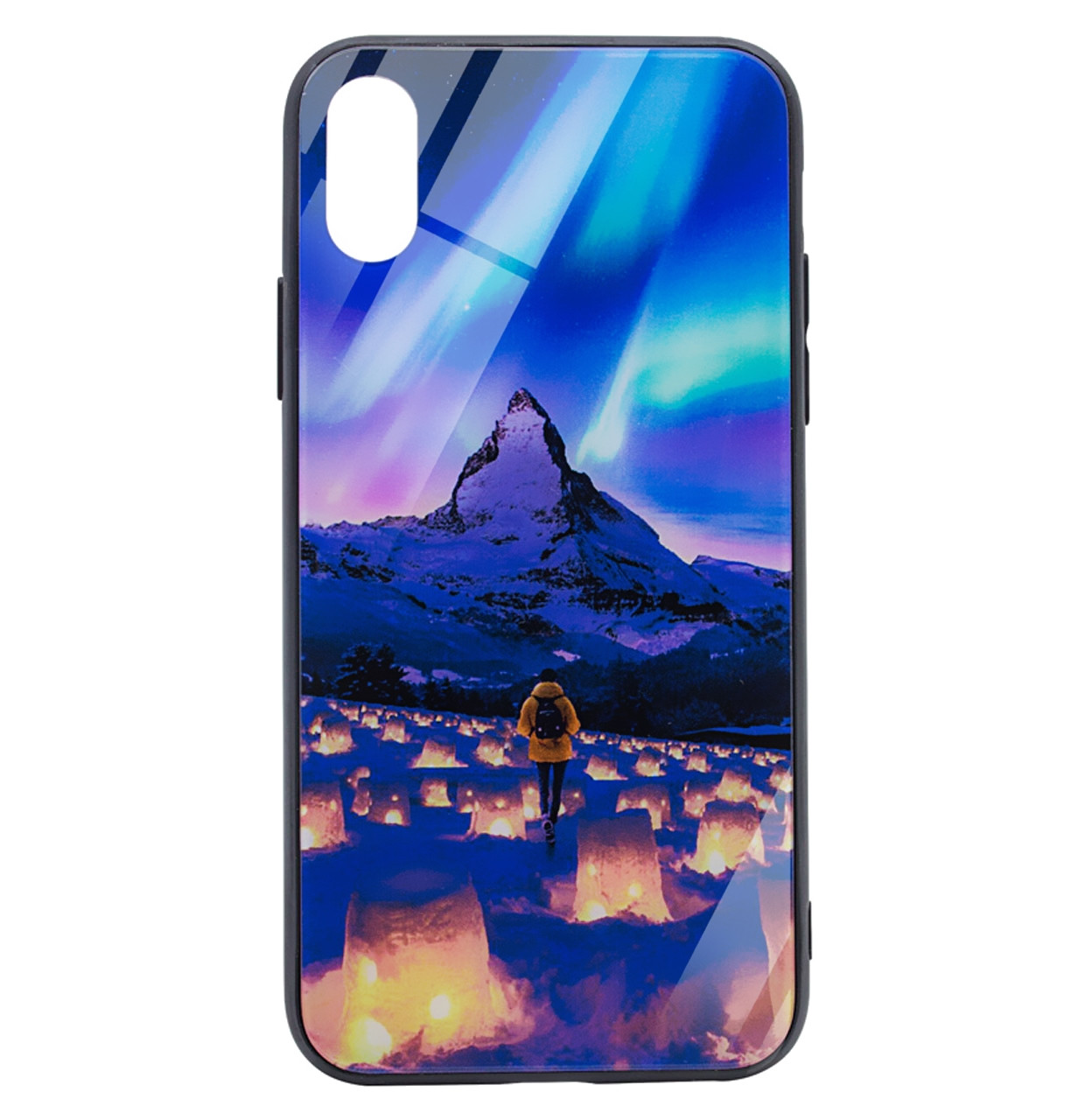 Чехол-накладка TPU+Glass Night series для IPhone X / Xs (Northern Lights)