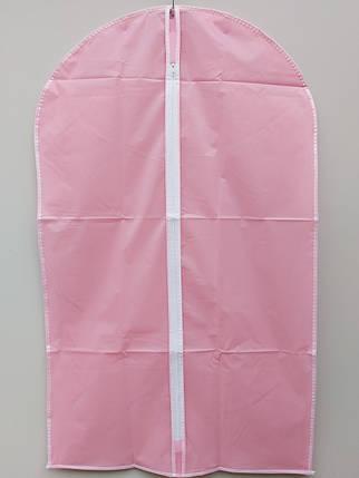 Чехол для хранения одежды плащевка розового цвета. Размер 60х90 cм, фото 2