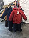 Детский зимний комбинезон на мальчика Панда Размеры 86- 104, фото 8