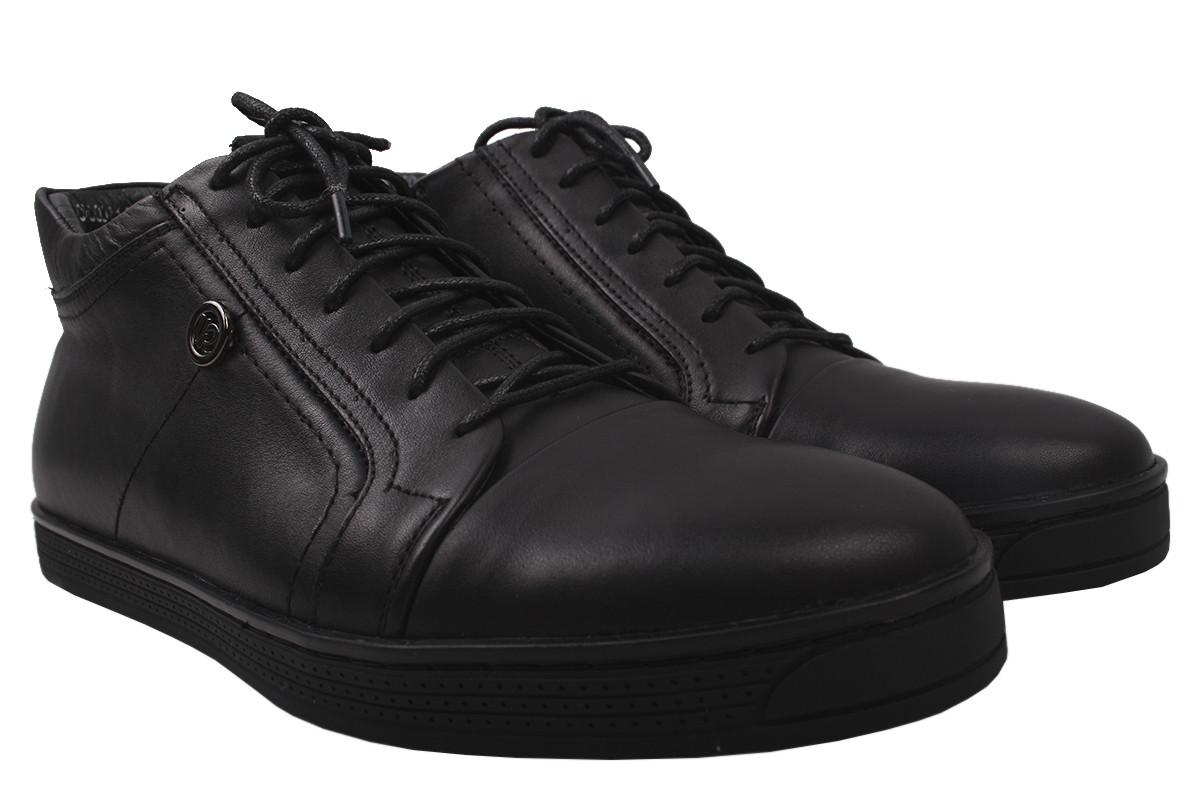 Ботинки мужские Vadrus натуральная кожа, цвет черный, размер 40-45