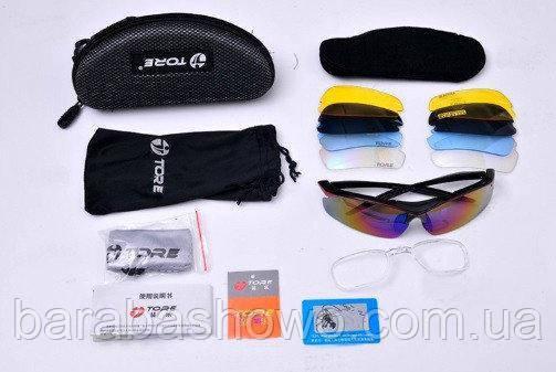 Очки спортивные TORE 0089, универсальные, поляризационные , Велосипедные