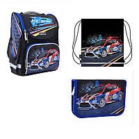 Набор рюкзак каркасный 555979, пенал 532053, сумка 557680 1 Вересня Smart для мальчика
