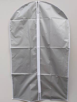 Чехол для хранения одежды плащевка серого цвета. Размер 60х100 cм, фото 2