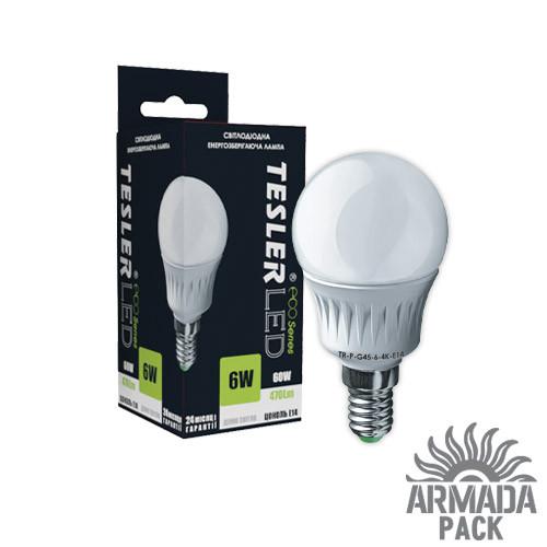 Светодиодная лампа TESLER 6 W цоколь Е 14