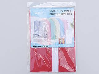 Чехол для хранения одежды плащевка красного цвета. Размер 60х100 cм