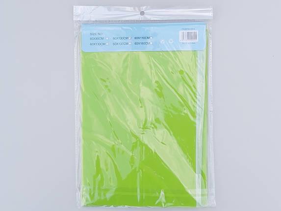 Чехол для хранения одежды плащевка салатового цвета. Размер 60х100 cм, фото 2