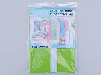 Чехол для хранения одежды плащевка салатового цвета. Размер 60х100 cм