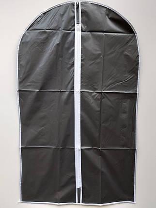 Чехол для хранения одежды плащевка черного цвета. Размер 60х137 cм, фото 2