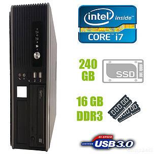 MSI SFF / Intel Core i7-2600 (4 (8) ядра по 3.4-3.8GHz) / 16 GB DDR3 / 240 GB SSD new! / USB 3.0, SATA 3.0, PCI Express 3.0, фото 2