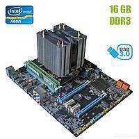 Материнская плата X79 3.2S1 / socket LGA 2011 с процессором Intel Xeon E5-1620 / 4(8) ядра по 3.6-3.8GHz / 10Mb cache и 16GB DDR3 ECC ОЗУ